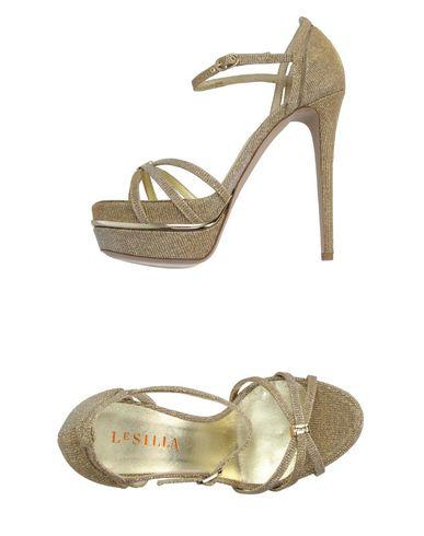 Le Silla Sandals In Platinum