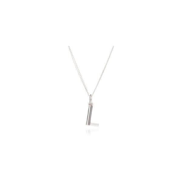 Rachel Jackson London Initial Necklace In Sterling Silver - L