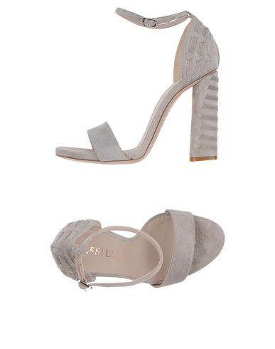Le Silla Sandals In Light Grey