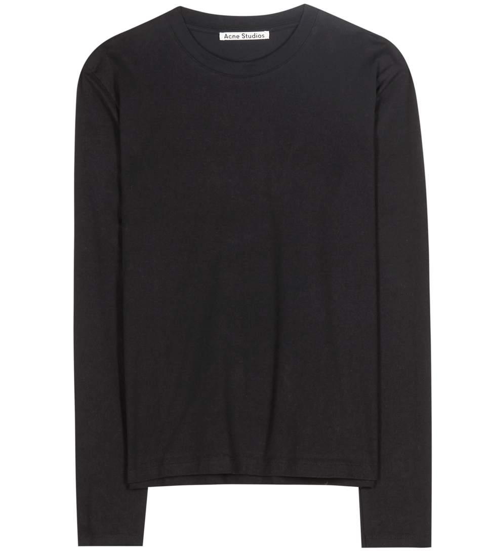 Acne Studios Dayna Cotton Top In Black