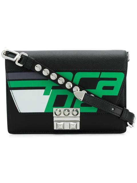 Prada Elektra Crossbody Bag In Black