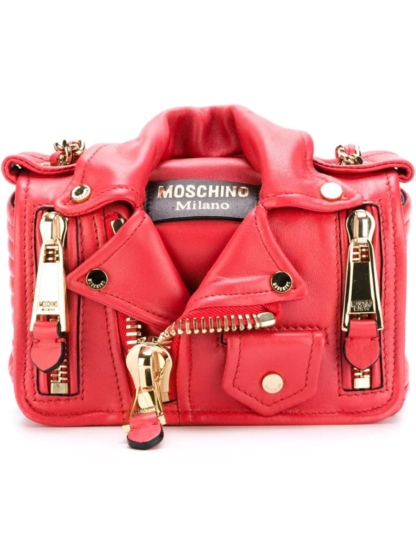Moschino Crossbody Bag With Detachable Panel In Black