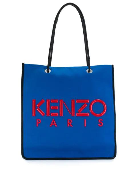 Kenzo Kombo Shopper Tote In 70 Blue