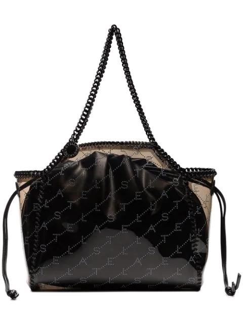 Stella Mccartney Black Falabella Transparent Pvc Tote Bag