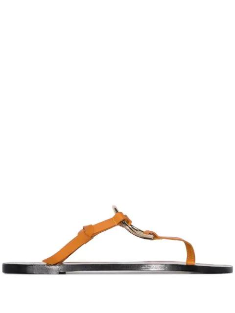 Atp Atelier Forna Ring-Embellished Sandals - Brown