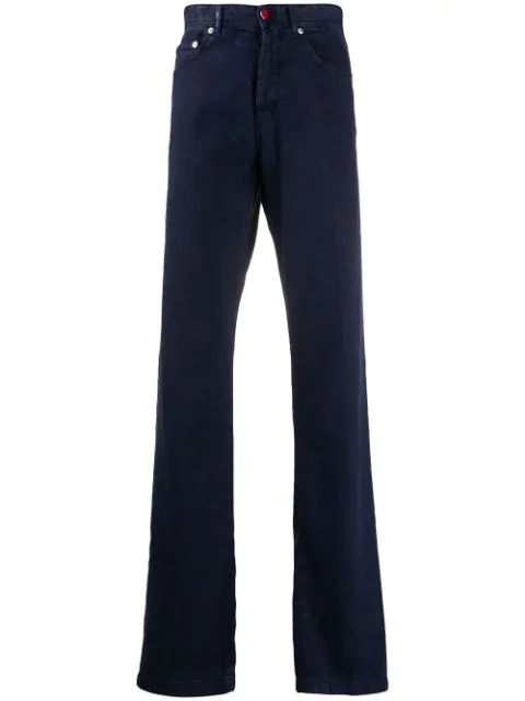 Kiton Straight-leg Trousers In Blue