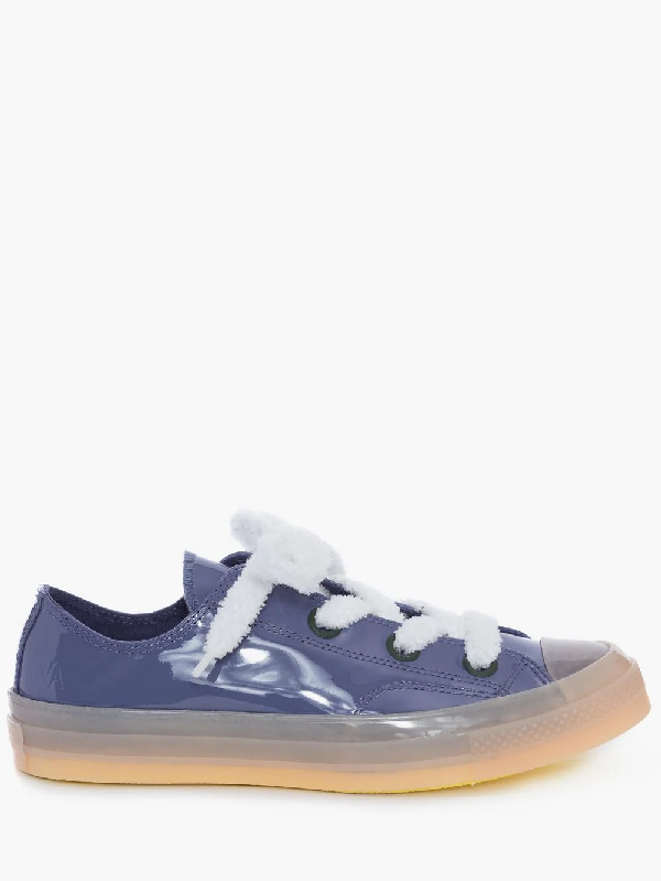 Jw Anderson Mauve Patent Low Top Chuck Taylor Converse In Purple
