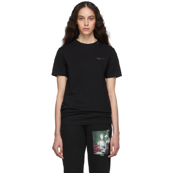 Off-White Unfinished T-Shirt In Black