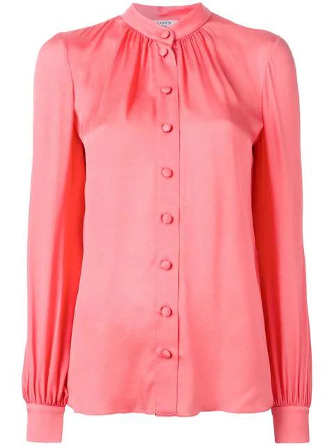Lanvin Button Down Blouse - Pink