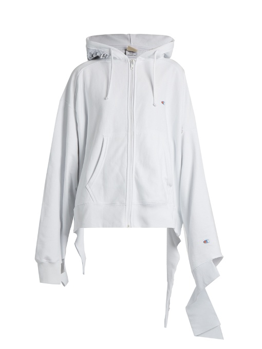 Blend In Champion X Cotton Oversized Sweatshirt White D92WYIEH