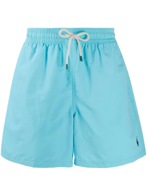 Polo Ralph Lauren Logo-embroidered Swim Shorts In Blue