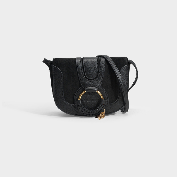 See By ChloÉ Hana Mini Crossbody Bag In Black Suede And Calfskin