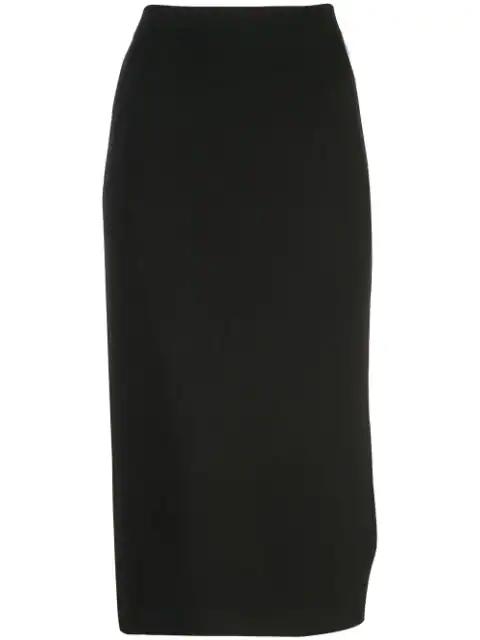 Piazza Sempione High-waist Midi Skirt In Black