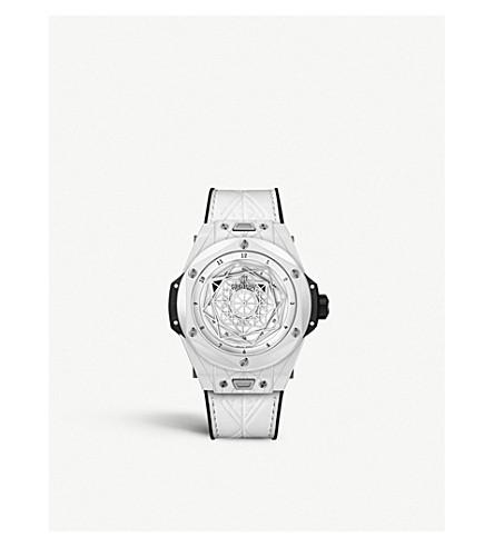 Hublot 415.hx.2027.vr. Mxm19 Big Bang Unico Sang Bleu Ceramic Watch In White