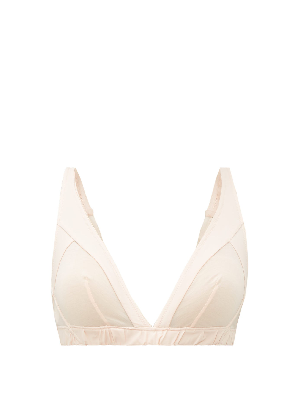 Rossell England Kite Cotton Bra In Nude