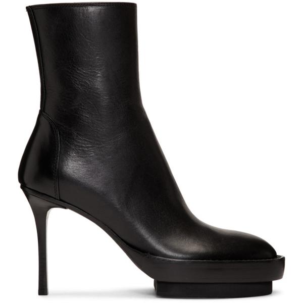 Ann Demeulemeester Platform Boots With Stiletto Heel In 099 Black