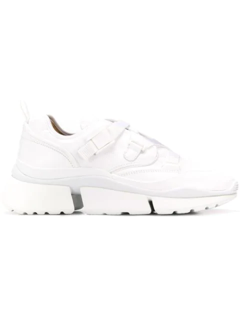 ChloÉ White Women's White Sonnie Low-Top Sneakers