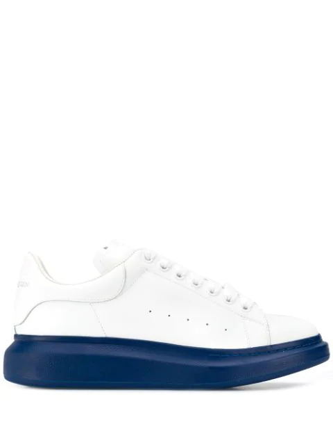Alexander Mcqueen Show Leather Trainers In White