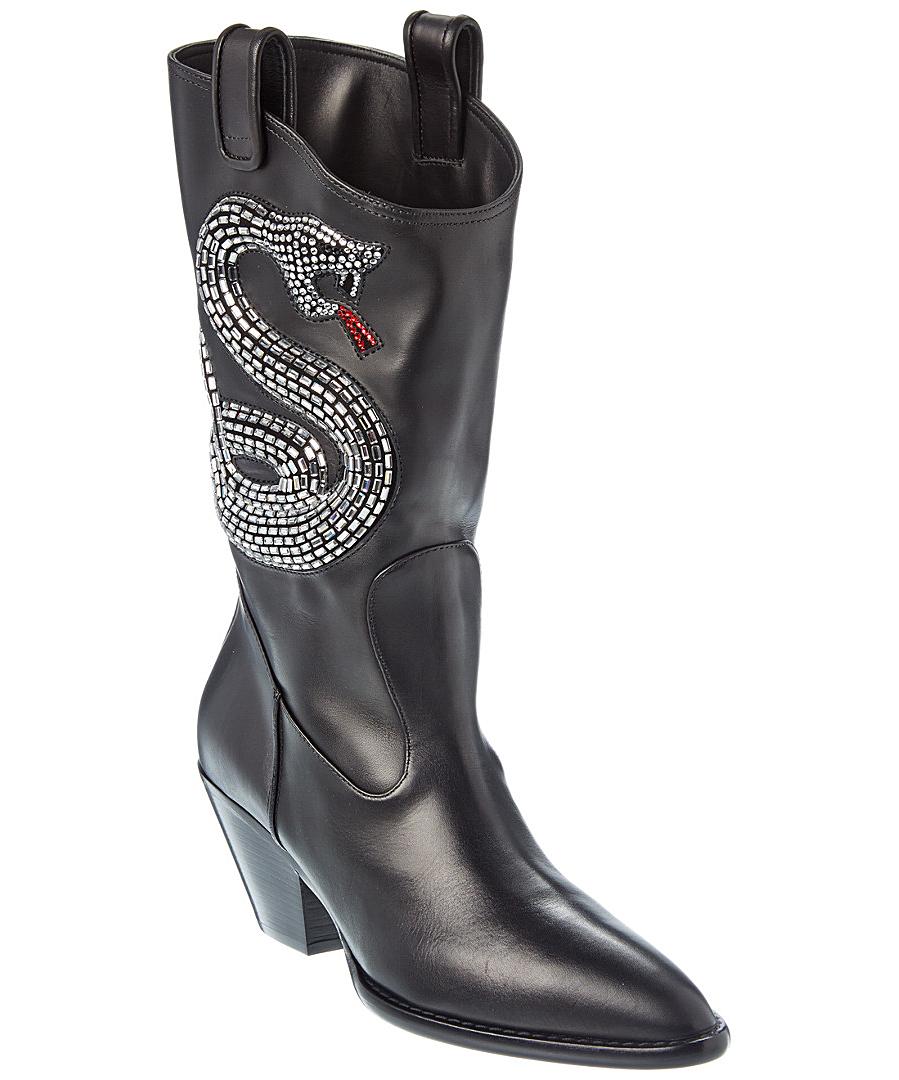 Giuseppe Zanotti Leather Boot In Black