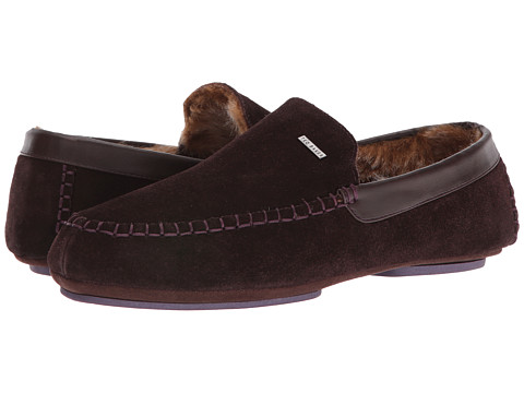 Ted Baker Moriss Faux Fur Lined Moccasin (men) In Brown