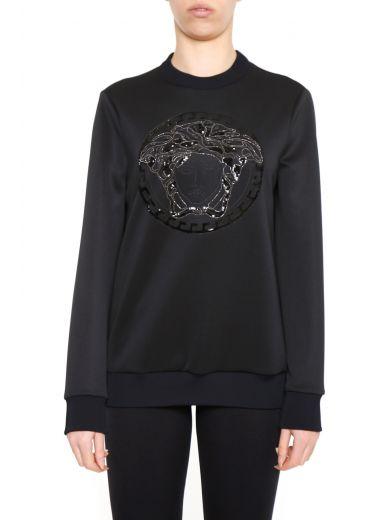 Versace Sweatshirts In Nero|nero