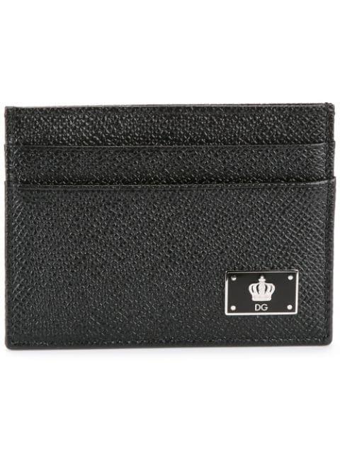 Dolce & Gabbana Dolce And Gabbana Black Crown Cardholder