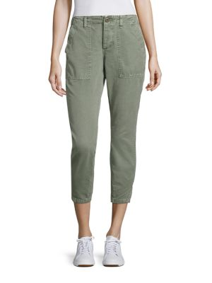 Amo Army Twist Utility Cropped Pants In Olive