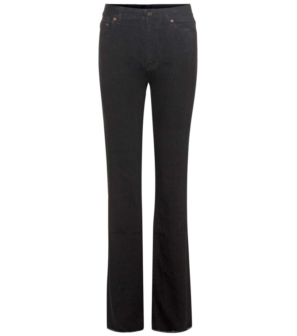 Saint Laurent Flared Jeans In Black