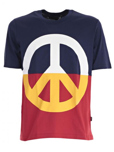 Love Moschino Peace Print T-shirt In St.peace Yp00