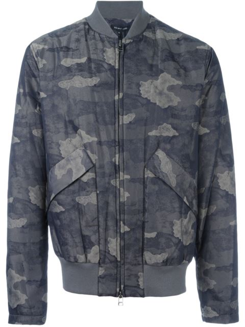 Helmut Lang Jacquard Camo-Print Nylon Jacket, Olive Slate Multi In Green
