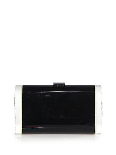 Edie Parker Lara Acrylic Confetti Clutch In Black