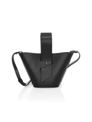 Carolina Santo Domingo Women's Mini Amphora Leather Bucket Bag In Black