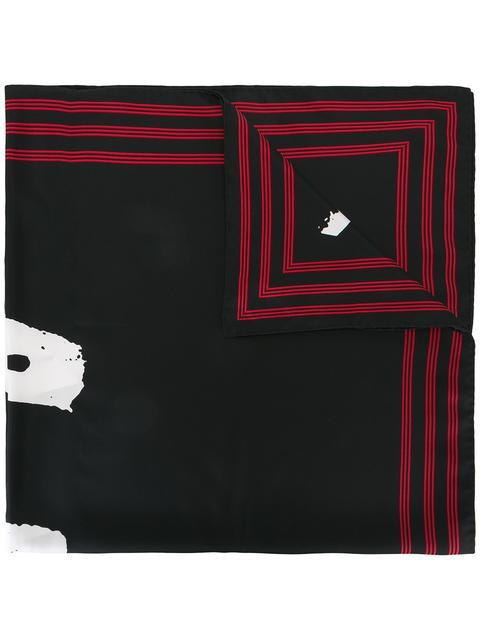 Kenzo Signature Pure Silk Square Scarf In Black