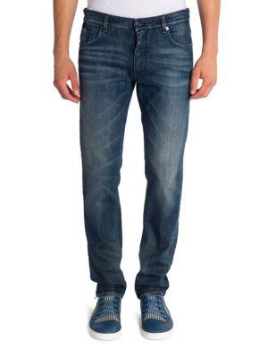 Fendi Slim-fit Jeans In Dark Blue