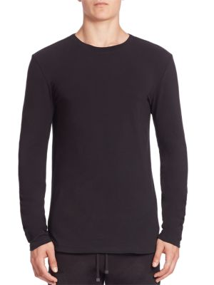 Helmut Lang Brushed Jersey Helmut Long Sleeve Tee In Black