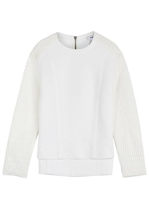 Helmut Lang Textured Sweatshirt In White