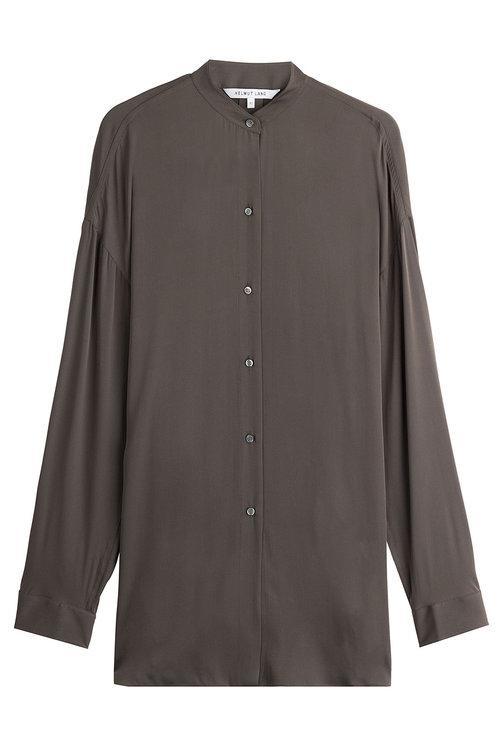 Helmut Lang Silk Blouse In Brown