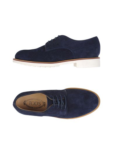 Tod's Lace-up Shoes In Dark Blue