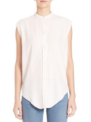 Helmut Lang Back Knot Shirt In White