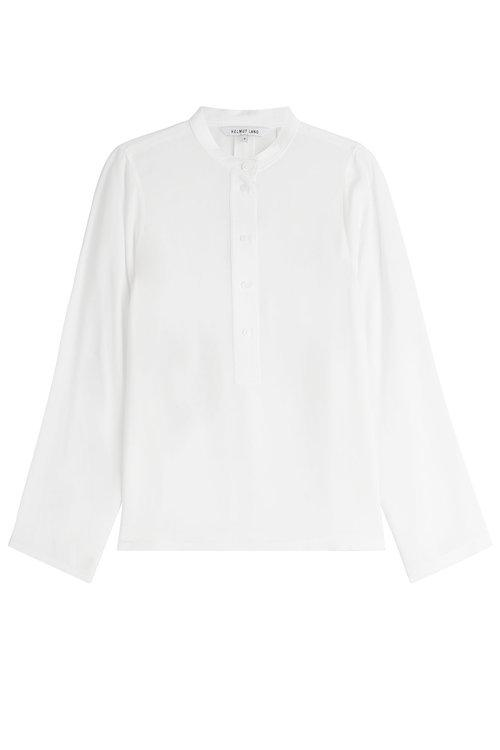 Helmut Lang Collarless Blouse In White
