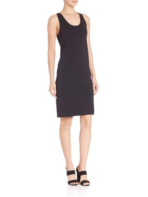 Helmut Lang Scuba Racerback Tank Dress In Black