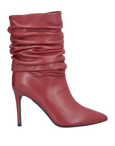 Erika Cavallini Ankle Boot In Brick Red