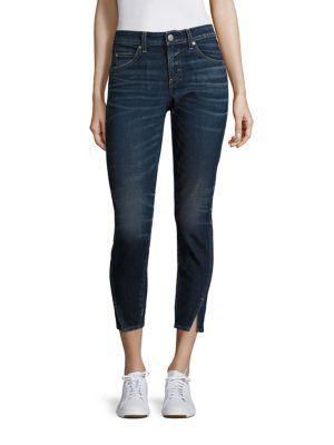Amo Twist Skinny Ankle Jeans In True Blue