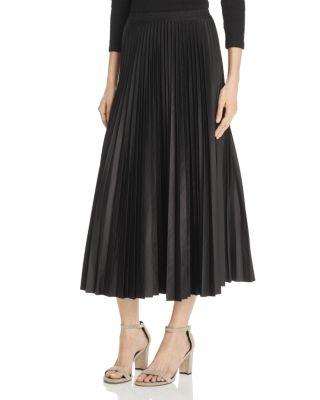 99a2a5ee7 Theory Dorothea Pleated Shell Midi Skirt In Black | ModeSens