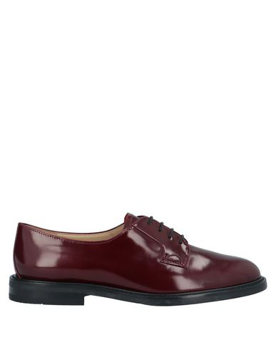 Theory Laced Shoes In Maroon