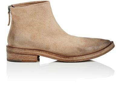 MarsÈLl Burnished Suede Ankle Boots In Lt.Brown