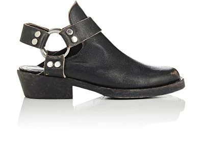 44267744dd33 Balenciaga Santiago Distressed Textured-Leather Ankle Boots In Eoir Ecru