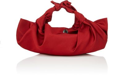 The Row Ascot Knotted Satin Tote In Red