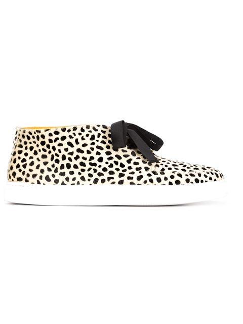 Charlotte Olympia Trista Leopard Print Calf Hair Chukka Sneakers In Cheetah
