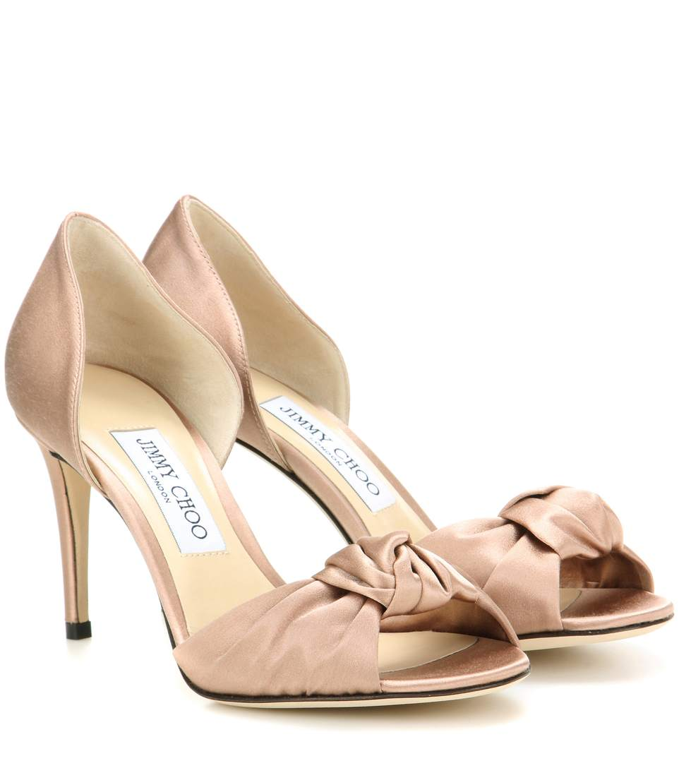bdacbf37b67c Jimmy Choo Kitty 85 Knotted Satin D Orsay Pumps In Pink